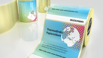 Caption: Bizerba offers different variants including thermal direct and multi-layer labels as well as labels made of special organic materials (Photo courtesy of Bizerba)