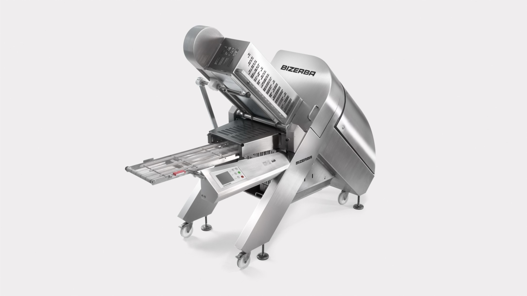 Caption: Unique in its class, Bizerba's A550 slicer provides integrated weighing technology for portion and single-slice weighing.