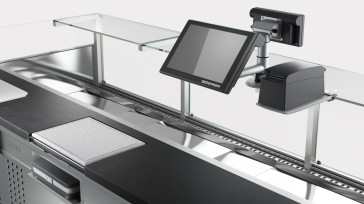 Caption: The PC-based scales of the K-Class family enable perfect integration into the counter and are ideally suited to serviced sales as well as self-service and price-labeling applications