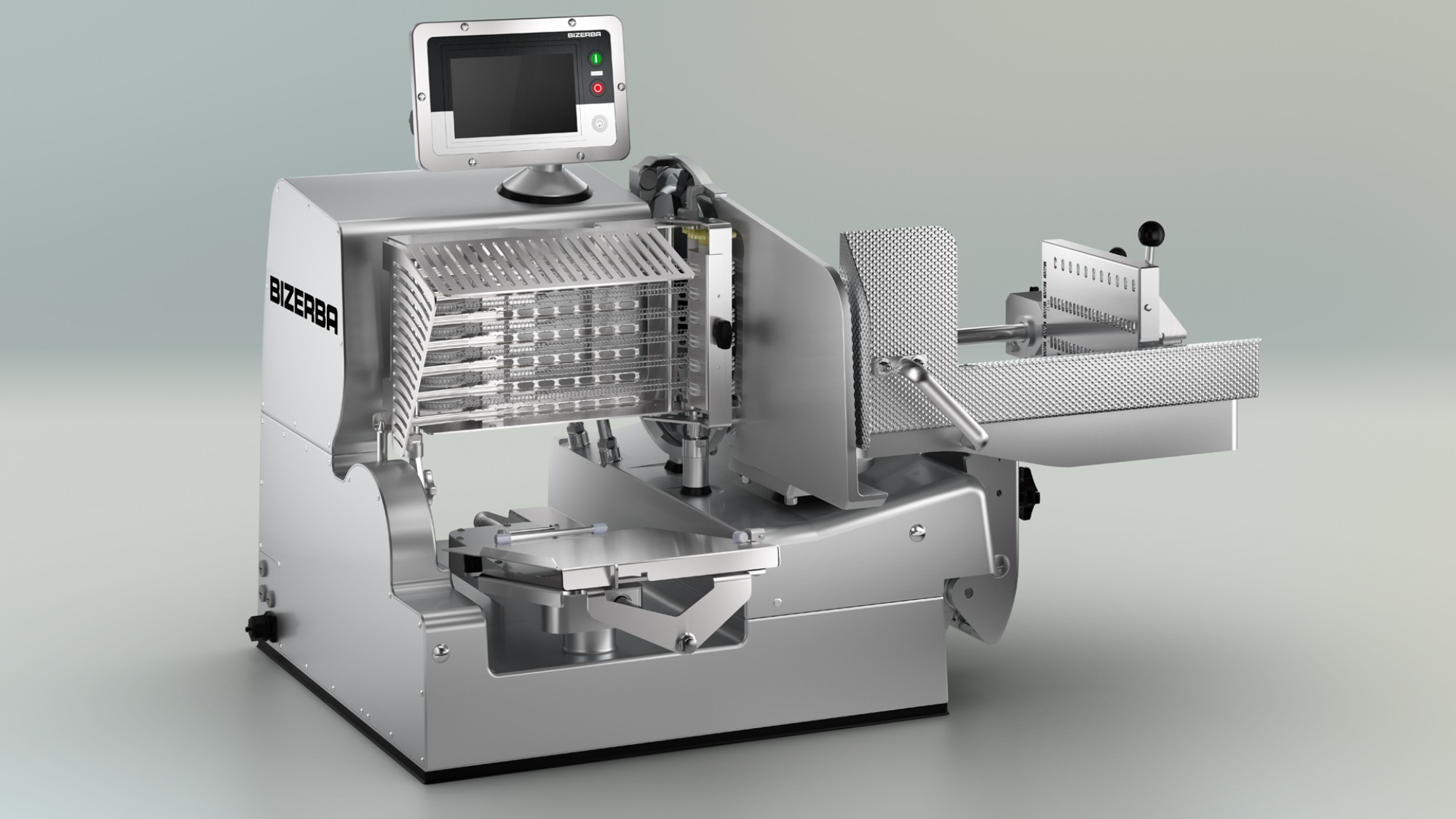 Caption: The different models of the VSI vertical slicer provide high slicing performance at maximum operator safety due to the sophisticated safety concept