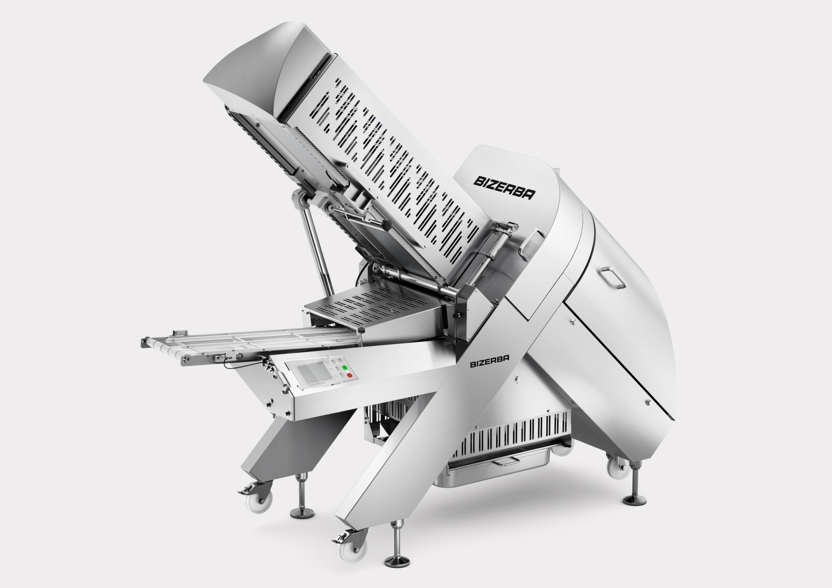 As an all-in-one device, the A660 can slice, weigh and portion a variety of slicing goods towards a specific target weight. (Image courtesy of Bizerba)