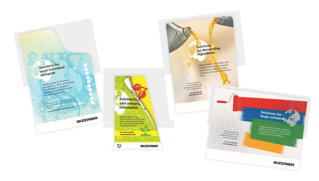 Product brochure labels