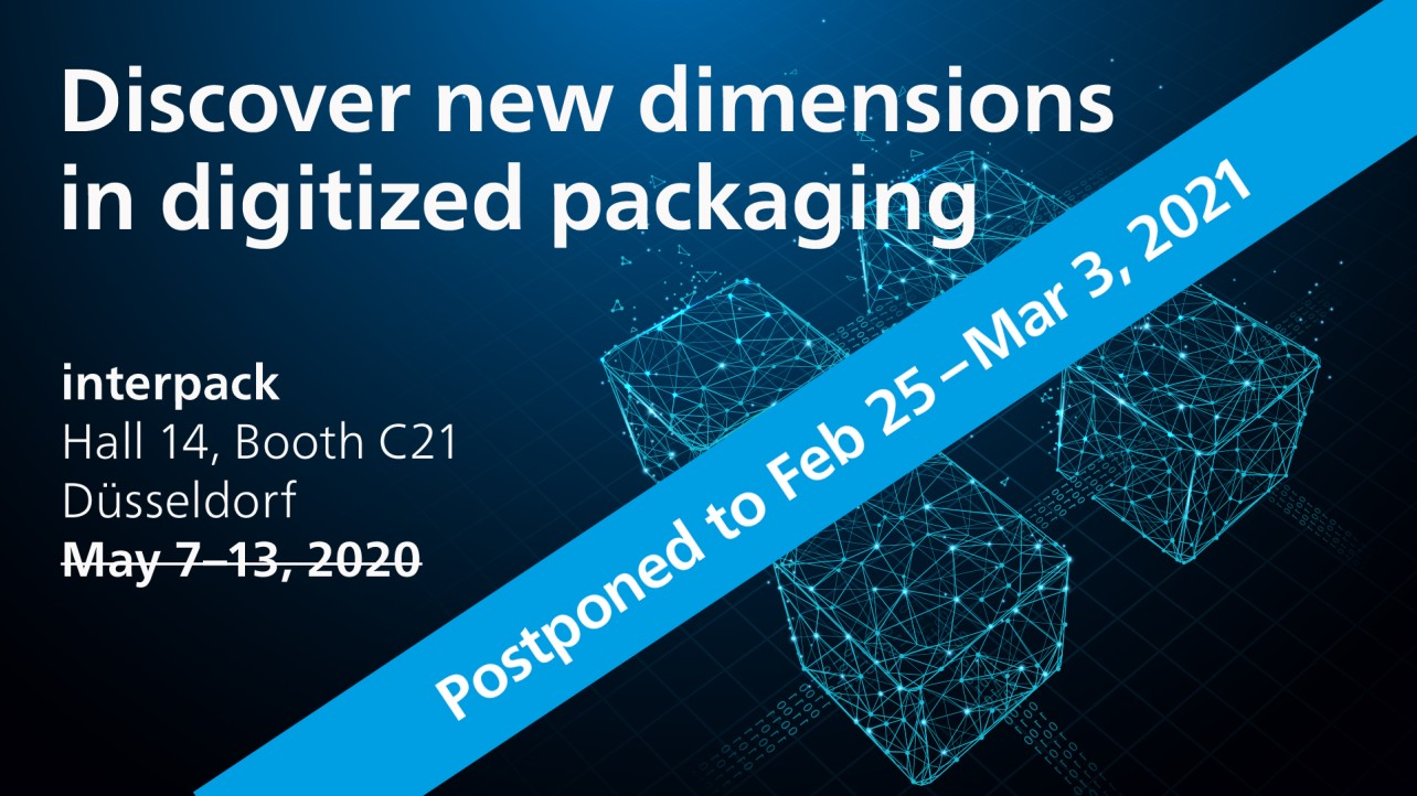 interpack 2020, discover new dimensions in digitized packaging