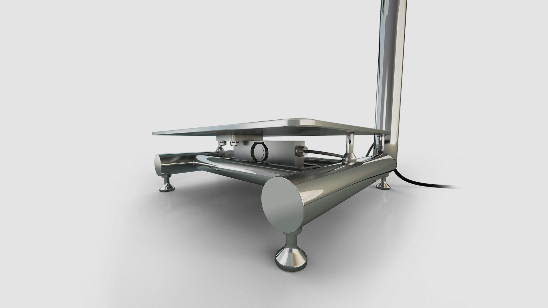 Hygienic scale iL Professional; stainless steel weighing platform