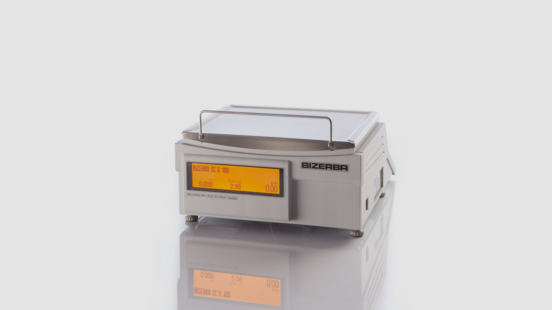 Counter top scale SC II 100 rear view