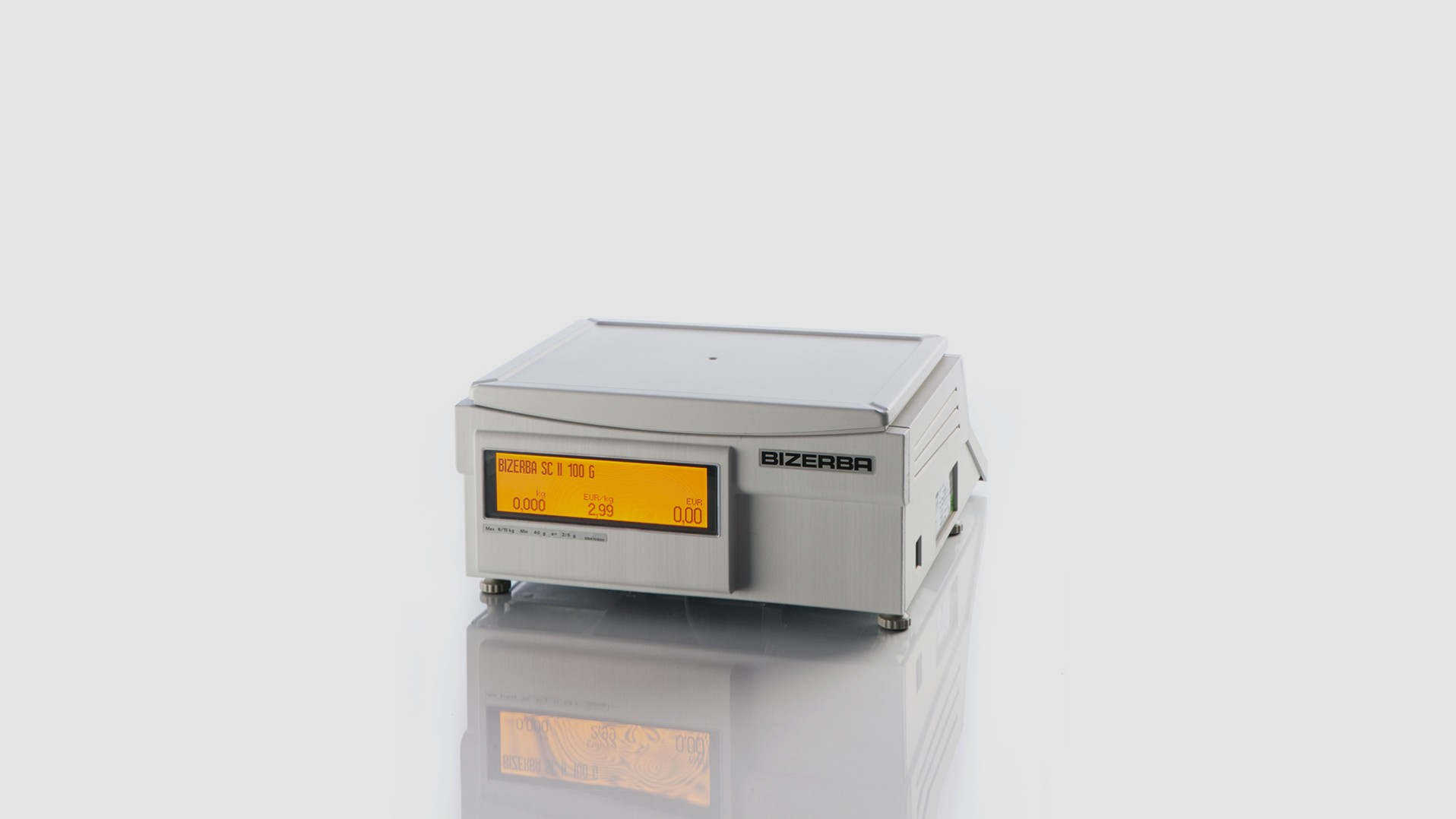 Counter top retail scale SC II 100 rear view