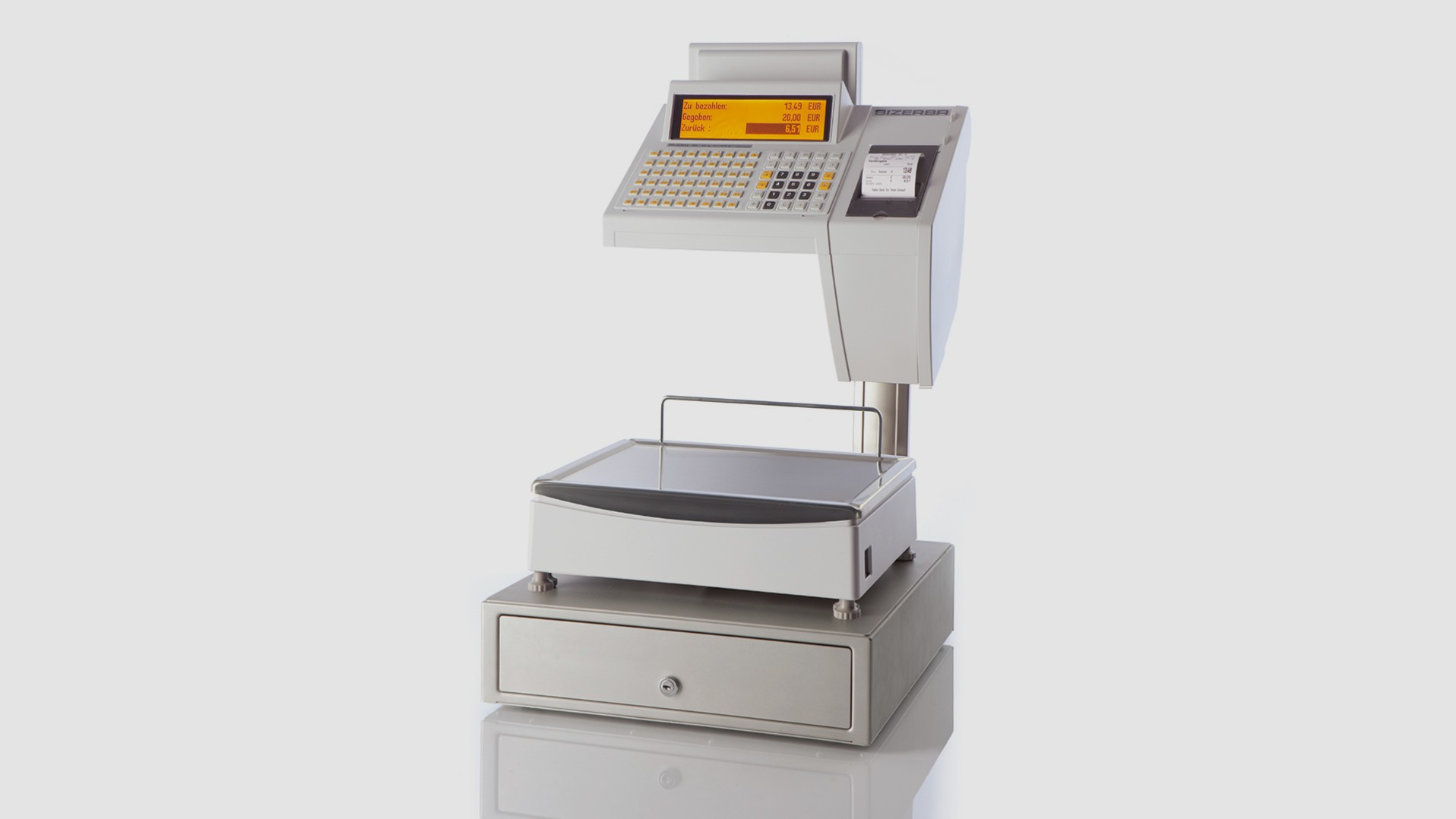 "Counter top scale SC II 800 7"" front view"