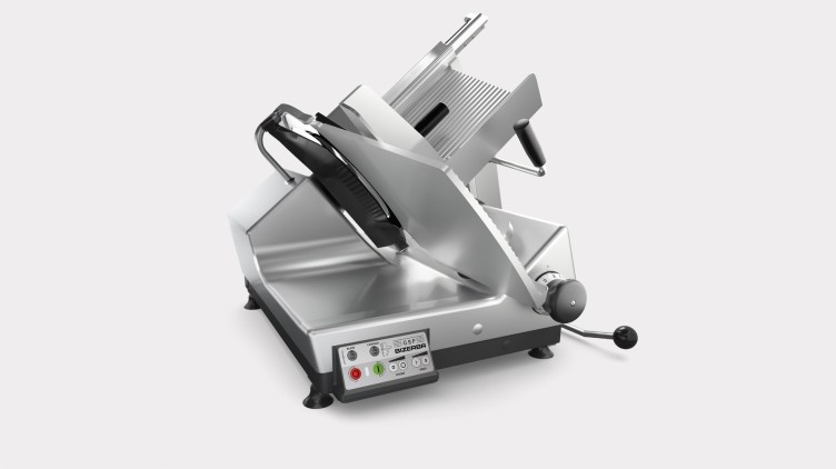 Automatic gravity feed slicers